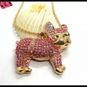 BETSEY JOHNSON~ Pink DoGGy Necklace